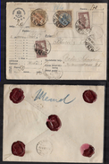Hungary, 1922, Insured Letter BUDAPEST > BERLIN, 170 Kr ( 2 X 20Kr Stamps With Perfin = 3 Dots =triangle)