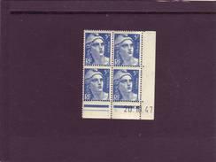 N° 719B- 5F Marianne De GANDON - J De I+J - Tirage Du 6.10.47 Au 7.11.47 - 20.10.1947 -