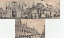 3 CPA  59 ROUBAIX  EXPOSITION INTERNATIONALE  1911 GRAND PALAIS PORTE INDUSTRIES TEXTILES - Roubaix