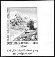 "Austria/Autriche: Prova Per La Stampa, Proof For Printing, épreuve Pour L'impression, Ascensione Sul ""Grossglochner"", As"