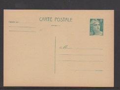 FRANCE -ENTIERS POSTAUX-CARTE POSTALE SUR 8f BLEU TYPE GANDON N° 810