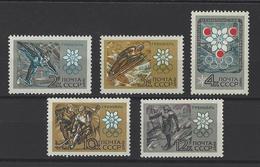 RUSSIE . YT 3272/3276 Neuf ** Jeux Olympiques D'hiver à Grenoble 1967