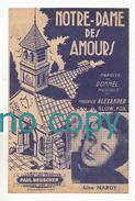 Notre-Dame Des Amours, Dommel, Maurice Alexander, Lina Margy, Slow-fox, Partition - Musique & Instruments