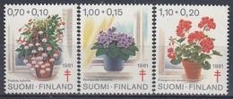 FINLAND 885-887,unused,red Cross