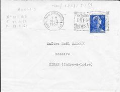 SEINE 75  - PARIS TRI ET DISTRIBUTION N° 1  - FLAMME N° A 00 411 S -  VOIR DESCRIPTION  - 1957 - - Marcophilie (Lettres)