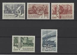 RUSSIE . YT 3314/3318 Neuf ** Cinquantenaire De La Révolution D'Octobre 1967