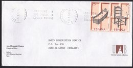 Spain: Cover To Netherlands, 1992, 2 Stamps, Wooden Chair, Cradle, Woodcarving, Craft, Furniture (traces Of Use) - 1931-Heute: 2. Rep. - ... Juan Carlos I