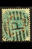 PATIALA  1884 (curved Red Overprint) 4a Green, SG 4, Fine Used. For More Images, Please Visit...