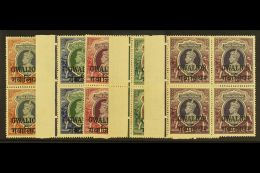 GWALIOR  1938-48 NEVER HINGED MINT KGVI High Value Marginal BLOCKS OF 4 Range To 25r Including 1r (SG 112) &...