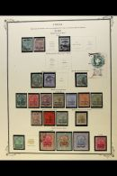 GWALIOR  1885-1949 Mint And Used All Different Collection On Printed Leaves, Generally Good To Fine Condition....