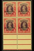 CHAMBA  OFFICIALS. 1938-40 10r Purple & Claret, SG O71, Never Hinged Mint Marginal Block Of 4, Usual Very...