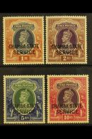 CHAMBA  OFFICIALS. 1938-40 KGVI High Values Set, SG O68/71, Never Hinged Mint (4 Stamps) For More Images, Please...