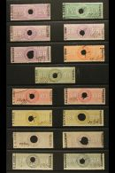 REVENUES  SMALL CAUSE COURT CALCUTTA. 1866-68. An Attractive, All Different Used Range Of Punch & Or...