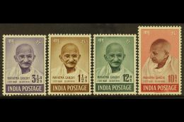 1948  Gandhi Complete Set, SG 305/08, Fine Mint, Very Fresh. (4 Stamps) For More Images, Please Visit...