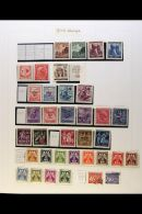1918-1989 MINT AND USED COLLECTION  An All Different Collection On Album Pages, Includes Sections Of Bohemia...