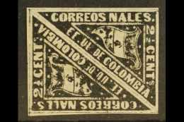 1869-70  2½c Black Carrier Stamp On Laid Paper, Scott 59a, An Attractive Fine Mint PAIR With Good Margins...