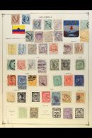 1865-1960 MOSTLY USED COLLECTION  On Old Pages, Inc Useful 19th Century Issues, Air Post Issues, Registration,...