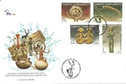 Turkey; FDC 2010 Anatolian Civilizations (Early Bronze Age)