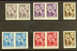 COLOUR TRIAL PROOFS  For The 1960 5p+5p Flowers Issue (Tabebuia), As SG 1002 Or Scott B29, A Set Of Four Imperf...