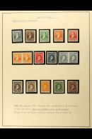 1892-98 PROOFS AND POSTAL STATIONERY COLLECTION  An Attractive Collection Of The 1892-98 Rivadavia, Belgrano, And...