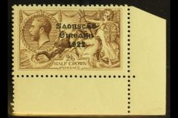 1925-8  2s6d Chocolate-brown, Wide Setting, Overprint In Black Ink, SG 86, Never Hinged Mint., Corner Marginal...
