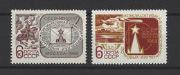 RUSSIE . YT 3367/3368 Neuf ** Réunion Des Commissions Consultatives Des Etudes Postale à Moscou 1968