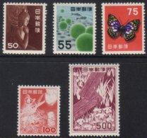 1952-68  Definitive High Values 50y To 500y, SG 666/670, Never Hinged Mint. (5 Stamps) For More Images, Please...