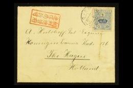 """USED IN KOREA  1919 (March) Cover To Netherlands, Bearing 10s Stamp Tied By """"Chemulpo"""" Cds, With Red Boxed..."""