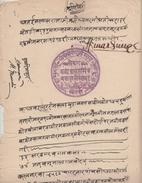 KHETRI State 1874 AD Rajah Amar Singh's Signed Document # 94028 Inde Indien  India Fiscaux Fiscal Revenue