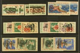 1962 OVERPRINTS WITH ALL TYPES.  All Different Never Hinged Mint Group On A Stock Card, Inc 1962 Olympics,...