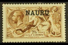 1916-23  2s6d Yellow- Brown De La Rue, SG 20, Never Hinged Mint. For More Images, Please Visit...