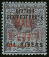 1893  ½d On 2½d Purple On Blue, Type 4 Surcharge In Carmine, SG 13, Very Fine Mint. For More...