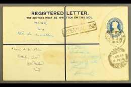 "1948  (8 Apr) 4½a Registered Stationery Envelope With ""PAKISTAN"" Nasik Overprint (26¼ X 3mm), On..."
