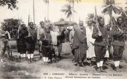 Guinée Française-CONAKRY- Affaire GOMBA- Départ Pour Les Assises- Grand Karamoko En Hamac- CPA N°358 - Guinée Française