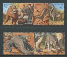 Australia 2008 Prehistoric Animals Mega Fauna Set 6 MNH - Mint Stamps