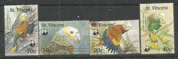 ST.VINCENT - MNH - Animals - Birds - Parrots - WWF