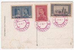 KuK Bosnia Special Postmark And Stamps 28.VI.1917 On Postcard Sarajevo Appel-Quai Bb170525