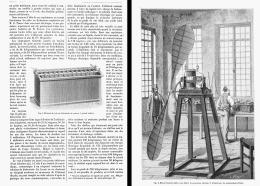 ETUDES PRELIMINAIRES POUR LA CONSTRUCTION D'UN MOTEUR ELECTRIQUE LEGER  (AVIATION)   1882 - Transports