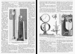 HORLOGE à MOTEUR HYDRO-PNEUMATIQUE De M. BOURDON  1882 - Non Classés