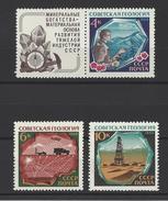 RUSSIE . YT 3422/3424 Neuf ** Géologie Générale 1968