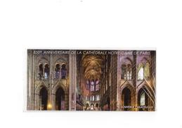 2013  850e ANNIVERSAIRE DE LA CATHEDRALE NOTRE-DAME DE PARIS - Souvenir Blocks & Sheetlets