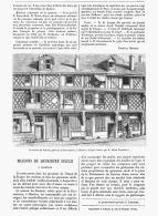 MAISON Du XVeme SIECLE à CHARTRES   1882 - Ile-de-France