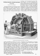NOUVELLE MACHINE DYNAMO-ELECTRIQUE à Courants Alternatifs De M. J. E. H. GORDON   1882 - Sciences & Technique