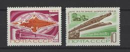 RUSSIE . YT 3439/3440 Neuf ** Chemins De Fer  1968