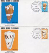 Nouvelle Calédonie 1984 2 Fdc Coquillages 5 F Et 20 F (01281)