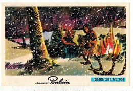 Image Chocolat Poulain Série N° 251 : Les Trappeurs De L'Alaska => Image N° 104 - Chanson Française Musique - Poulain