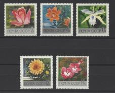RUSSIE . YT 3487/3491 Neuf ** Fleurs Du Jardin Botanique De L'Académie Des Sciences  De Moscou 1969