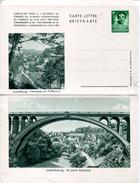 21846 Luxembourg, Entier 1,25 Fr. Carte-lettre Briefkarte Ville Basse Du Pofaffenthal Le Pont Adolphe - Entiers Postaux
