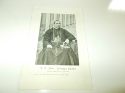 B668  Monsignor Giuseppe Gamba Vescovo Di Novara Cm14x9 - Glaube, Religion, Kirche