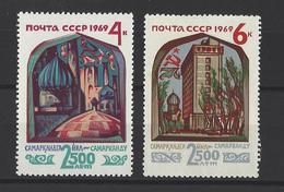 RUSSIE . YT 3505/6506  Neuf ** 2500e Anniversaire De Samarcande  1969